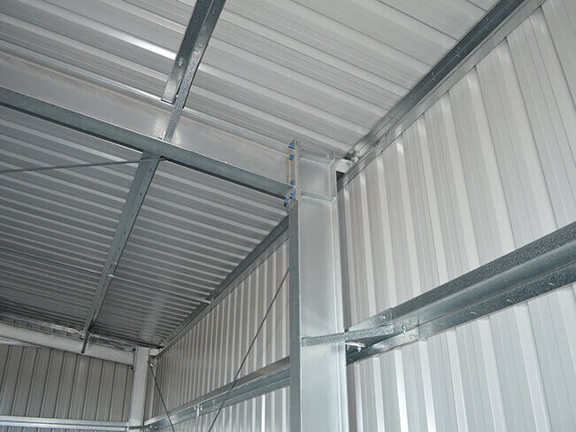 Solid Steel Building Internal